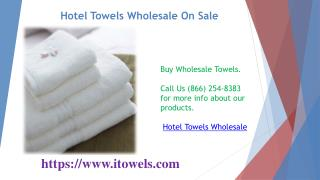 Hotel Towels Wholesale On Sale