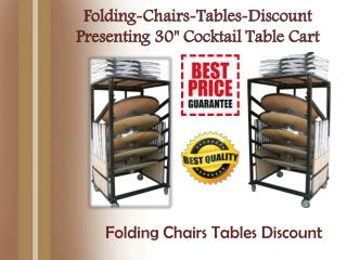 "Folding-Chairs-Tables-Discount Presenting 30"" Cocktail Table Cart"