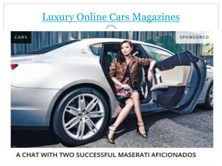 online cars magazines
