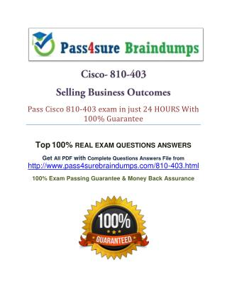 Pass4sure 810-403 Question