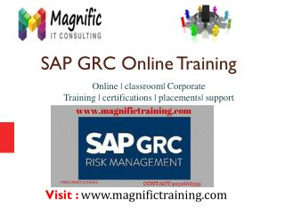 SAP GRC ONLINE TRAINING USA,UK|MAGNIFICTRAINING