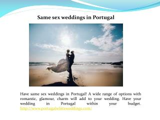 Weddings in Portugal
