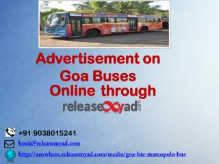 Goa Bus Advertisement Booking online through releaseMyAd