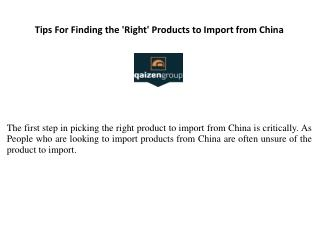 Secrets To Picking The Perfect Product To Wholesale From China