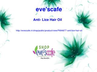 Buy Evescafe Anti-Lice Hair Oil