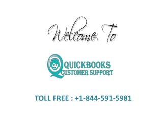 Quickbooks Online Technical Customer Support Phone Number  1-844-591-5981