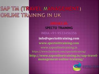 Sap tm(travel management) online live training | spectotraining
