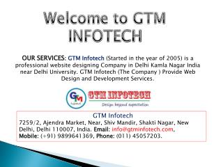 website designing in Delhi - gtminfotech.com
