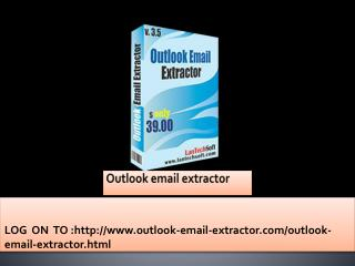 How to extract Email addresses from Ms outlook?