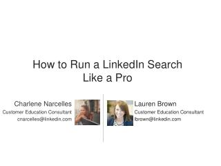How to run a LinkedIn search like a pro
