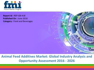 Valuation of Animal Feed Additives Market to reach US$ 18.75 Bn by 2026
