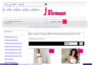 Buy Latest Cheap White Bridesmaid Dresses Under 100