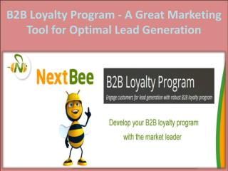 B2B Loyalty Program - A Great Marketing Tool for Optimal Lead Generation