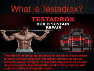 Testadrox Avail Risk-Free Trial Pack & Get Ripped Muscles!