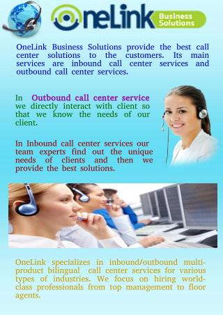 Outbound Call Center Services By One Link Solutions