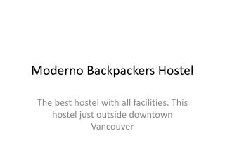 Moderno Backpackers Hostel