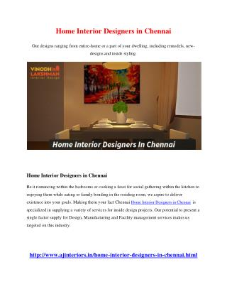 Home Interior Designers in Chennai