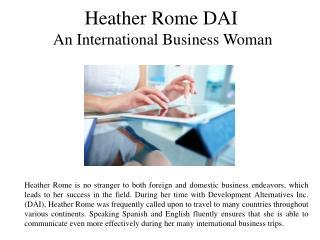 HeatherRomeDAI International Business Woman
