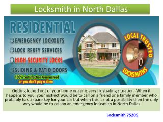 Locksmith in North Dallas