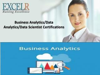 You can get Data Analytics courses, Project Management and  IT– Service  Management by ExcelR Solution