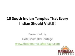 10 South Indian Temples That Every Indian Should Visit!!!