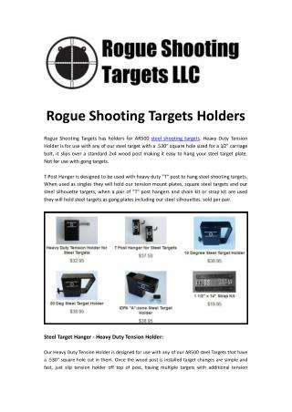 Looking for Best Shooting Targets Holders