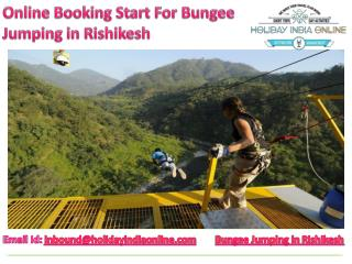 Online Booking Start For Bungee Jumping in Rishikesh