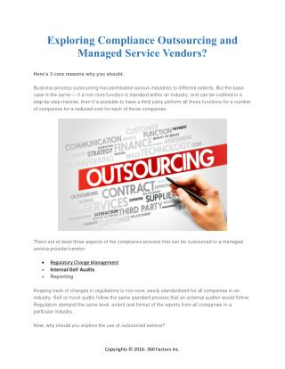 Exploring Compliance Outsourcing and Managed Service Vendors?
