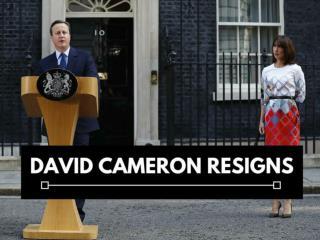 David Cameron resigns
