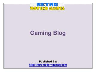 Gaming Blog