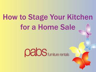 How to Stage Your Kitchen for a Home Sale