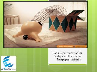 Malayala Manorama Classified and Display advertisement Booking - adeaction