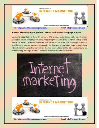 Internet Marketing Agency Miami: SMO and search engine optimization Miami