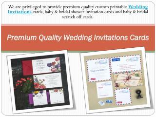 Premium Quality Wedding Invitations Cards