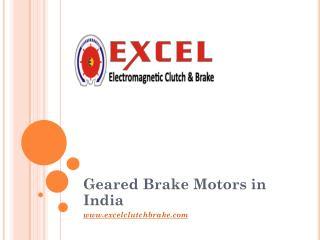 Geared Brake Motors in India