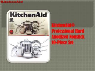 KitchenAid Hard Anodized Nonstick 10-Piece Cookware Set