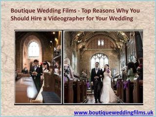 Wedding Videographer in Uk