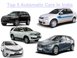 Check out New Automatic Cars In India