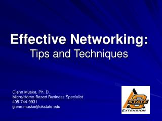 Effective Networking: Tips and Techniques