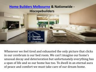 Home Builders Melbourne & Nationwide - Hiscopebuilders