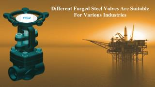Types of Forged steel valves and it's features
