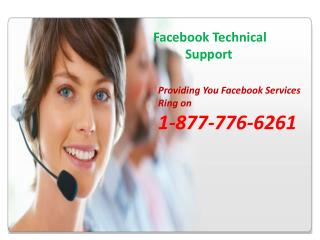 Get The Facebook Tech Support With Our Toll Free Number 1-877-776-6261