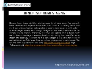 Know Benefits of Home Staging