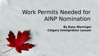 Work Permits for Canada Immigration