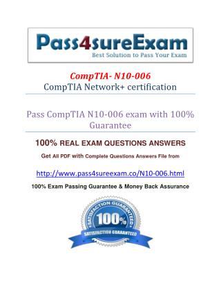 Pass4sure N10-006 Exam Dumps