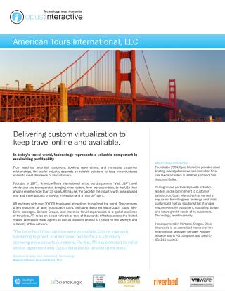 Delivering custom virtualization to keep travel online and available | Opus Interactive