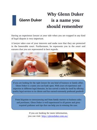 Why Glenn Duker is a name you should remember
