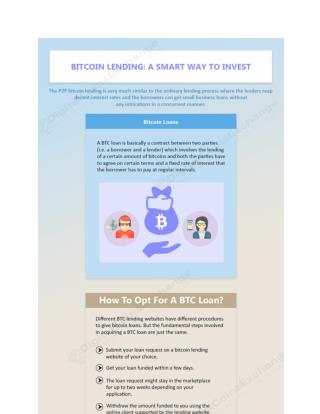 Bitcoin Lending A Smart Way To Invest