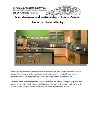 Want Aesthetics and Sustainability in Home Design Choose Bamboo Cabinetry