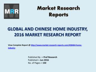 New Home Market Project Feasibility and Chinese Financial Revenue Analysis in 2016 Report